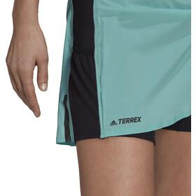 adidas TERREX Agravic 2in1 Skort Damer, sort/turkis